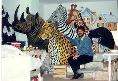 ΖΩΓΡΑΦΙΚΗ ΓΙΑΝΝΗΣ ΓΕΩΡΓΙΑΔΗΣ: ΖΩΓΡΑΦΙΚΗ ΖΩΩΝ Giraffe, Fair Grounds, Painting, Animals, Art, Art Background, Felt Giraffe, Animales, Animaux