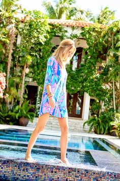 Lilly Pulitzer Ali V-Neck T-Shirt Dress