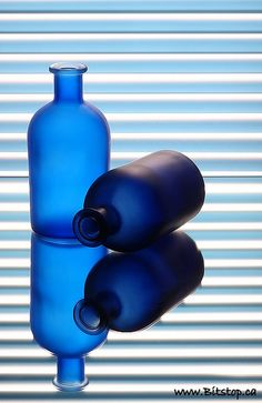 frosted blue glass