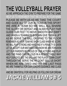 The Volleyball Prayer Personalized with Volleyball Senior
