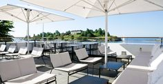 "Loving this place ""Mattolaituri"" at Helsinki. What a nice bistro-style terrace. Visit Helsinki, Coffee Places, Outdoor Furniture Sets, Outdoor Decor, Beautiful Buildings, Sun Lounger, Interior Inspiration, Patio, Studio"
