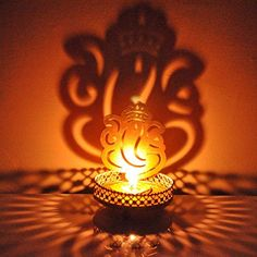 VMP Traditional Tea Light Candle Holder/Metal Candle Light Holder Set/Designer Votive Candle Holder Stand/Table Decorative Candle Holders, Heart Shadow Tea Light for Home Living Room & Office Candle Holder Decor, Candle Stand, Tealight Candle Holders, Flickering Candle, Lord Ganesha Paintings, Ganesha Art, Ganesha Rangoli, Baby Ganesha, Tea Light Candles