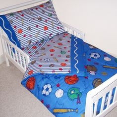 Crayola Sports Navy Toddler Bedding Set