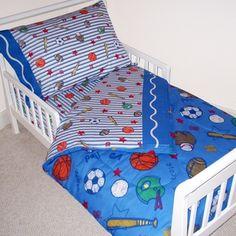 Crayola Sports Navy Toddler Bedding Set