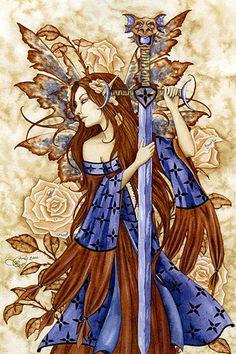 Amy Brown Dragon Sword Print -- Limited Edition