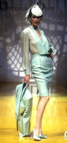 1995 Christian Dior, Spring -Summer, Couture Macaroons Wedding, Christian Dior, Raf Simmons, Church Attire, 80s And 90s Fashion, Gianfranco Ferre, Supermodels, New Look, Fashion Brands