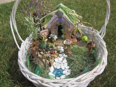 Fairy Garden Accessories kit Swing Bell by MadeOnUrthBeads on Etsy