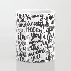 Buy I love you in the morning Mug by Matthew Taylor Wilson. Worldwide shipping available at Society6.com. Just one of millions of high quality products available.