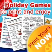 Printable Christmas games for all the family, and 5 games ideas to play at your Christmas party.
