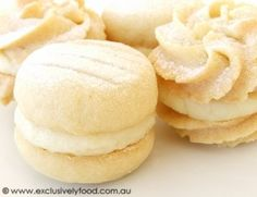 These rich, fine-textured, buttery biscuits have a sweet, lemony filling. Makes 20 filled biscuits. Baking Recipes, Cookie Recipes, Snack Recipes, Dessert Recipes, Snacks, Baking Ideas, Just Desserts, Delicious Desserts, Yummy Food