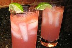 Cocktail de sandia con alcohol