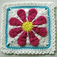 Patterns Kid Gerber Daisy Afghan Square Link To Pattern If You Join A Free Pattern