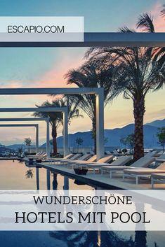 Die wunderschönsten Hotels mit Pool findest du auf ESCAPIO. Lass dich inspirieren! #pool #hotels #poolhotel #reisen #urlaub Bio Sauna, Paradise Pools, Bali, Riad, Beste Hotels, Cool Pools, Far Away, Diving, Tropical