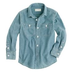 Boys' vintage chambray shirt #JCrew #CrewCuts