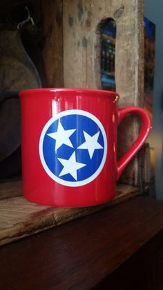 Red Tennessee Flag Mug – Nothing Too Fancy