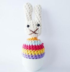 Miffy Egg Cosies Crochet pattern for Easter! Find out more at LoveCrochet.Com