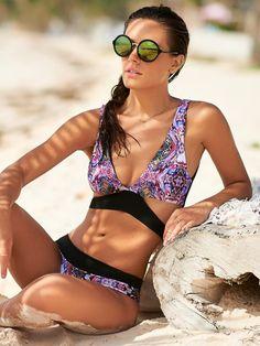 4ffe9f15a8e60 Summer Affair | Malai Swimwear Bikini Bottoms, Bikini Tops, Triangle Print,  Bikinis,
