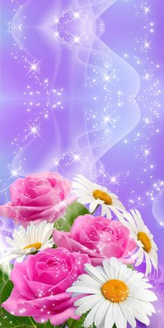 *)Bling My Walls with Roses & Florals Wallpaper. By Artist Unknown. 3d Wallpaper Flower, Beautiful Flowers Wallpapers, More Wallpaper, Pretty Wallpapers, Wallpaper Backgrounds, Iphone Wallpaper, Wallpapers Rosa, Stencil Painting, Fractal Art