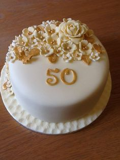 Hi my luv Golden Anniversary Cake, 50th Wedding Anniversary Cakes, Golden Birthday Cakes, Candy Birthday Cakes, 50th Cake, Cake Decorating Kits, Just Cakes, Novelty Cakes, Occasion Cakes