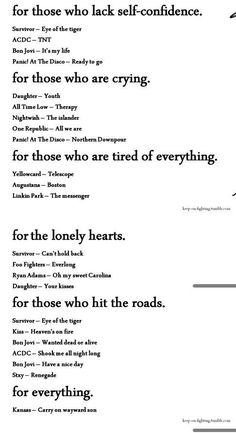Song list for all emotions found at Songl . - Song list for all emotions found at Song list for all emotions found - Music Lyrics, Music Quotes, Life Quotes, Quotes Quotes, Band Quotes, Quotes Women, Music Mood, Mood Songs, Image Citation