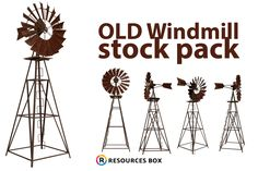 High resolution windmill free stock pack for photo manipulations.  #stock #freestock #design #resources #windmill #molino #recursos Free Logo Templates, Old Windmills, Lens Flare, Photoshop Brushes, Photo Manipulation, Free Stock Photos, Free Design, Design Projects, Texture