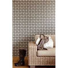 Black & White Decor with a Polka Dot Wallpaper 314035 Charcoal Polka Dots - Eijffinger Wallpaper Home Reno, Animal Print Rug, Charcoal, Polka Dots, White Decor, Black And White, Rugs, Grey, Mustard