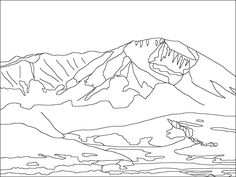 spanish peaks colorado coloring pages for kids