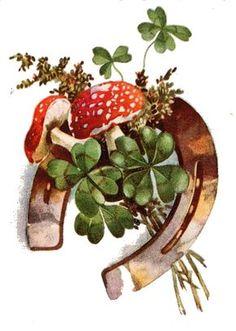 Mushroom Art, Happy New Year 2019, Amazing Pics, Leprechaun, St Patrick, Wordpress Theme, Food To Make, Decoupage, Christmas Cards