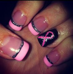 Pink and black with ribon