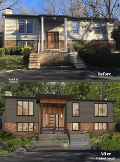 Are you looking for a simple way to create a beautiful home exterior, one that will stand out in If so, the answer is your FRONT DOOR! Home Exterior Makeover, Exterior Remodel, House Paint Exterior, Exterior House Colors, Modern Exterior, Exterior Design, Traditional Exterior, Interior Modern, Kitchen Interior