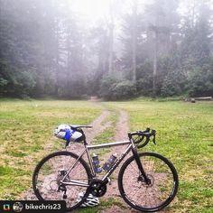 #Repost @bikechris23 ====== First Ride #morningcommute #cycling #tibikes #titanium #gravelgrinder #offthebeatenpath