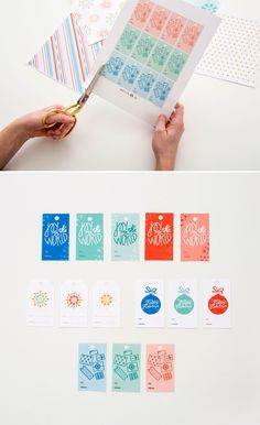 Free Printable Gift Wrap, Gift Tags and Holiday Cards
