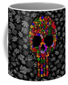 Floral Sugar Skull  Mug Available for @pointsalestore #mug #sugarskulls #dayofthedead #mexico #mexican #indian #maya #nature #copper #sickness #zombies #engraved #carve #skulls #skullart #skullwork #thewalkingdead #diadelosmuertos #tattoo #tattooartist #photooftheday #halloween #scarry #haunted #horror #hauntedmansion #bodypaint #darkartists #oldschool #beautiful #lovely #retro #floral #flower #dreamcatcher #parrot #leaf