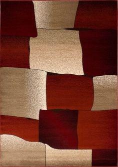 Ebern Designs Cramlington Beige/Burgundy Area Rug Rug Size: x Contemporary Area Rugs, Modern Rugs, Contemporary Style, White Area Rug, Beige Area Rugs, Burgundy Rugs, Farmhouse Rugs, Luxury Home Decor, Red Rugs