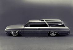 howtobuildatimemachine:  1965 Buick Sport Wagon: 2-door hardtop conversion; Wildcat wheels with double pinner whitewalls; panel paint study