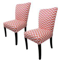 Sole Designs Julia Cotton Parson Chair Set of 2 #SoleDesigns #Contemporary