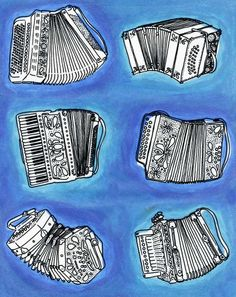 Accordions, by Sarah Becan