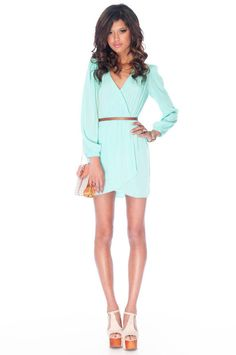 It's a Wrap Dress in Mint :: tobi.  So many cute items on this site but I'm not sure if I should risk ordering.