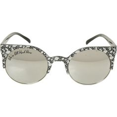 4110a98883f Disney Alice In Wonderland Filigree Round Sunglasses Hot Topic ( 15) ❤  liked on Polyvore featuring accessories