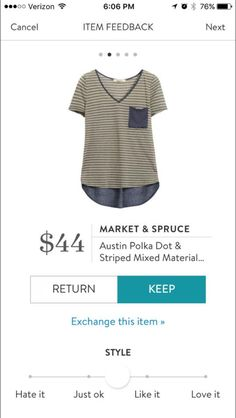 Market and Spruce Austin Polka Dot & Striped Mixed Material shirt