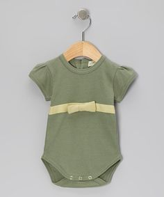 Take a look at this Seafoam Organic Cap-Sleeve Bodysuit - Infant by violet + moss on #zulily today! $17.99