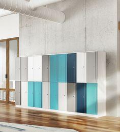Office Interior Design, Office Interiors, Room Interior, Office Lockers, School Lockers, Gym Design, School Design, Dance Studio Design, Locker Designs