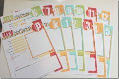 Free School Memory Kit Printables