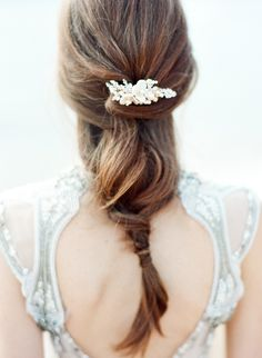 Beach Bridal Updo // Photography ~ Love Note Photography