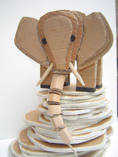 sculptures from cardboard