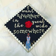 Beautiful and the beast graduation cap – Site Today - New Sites Disney Graduation Cap, Diy Graduation Gifts, Graduation Cap Designs, Graduation Cap Decoration, Grad Cap, College Graduation, Graduation Ideas, Graduation Quotes, Graduation Announcements