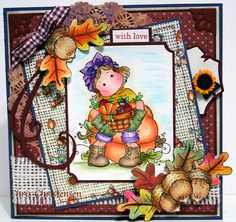 Magnolia Tilda with Carrots Thinking of You Card by Cedargirl, $12.00