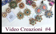 Video Creazioni #4 - Orecchini Ciondoli Anelli - Peyote Embroidery Tessitura Perline Bijoux DIY