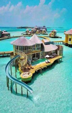 bora bora honeymoon Ferienanlage in Malediven - just luxux Vacation Places, Vacation Destinations, Dream Vacations, Vacation Travel, Holiday Destinations, Dream Vacation Spots, Romantic Vacations, Italy Vacation, Romantic Travel