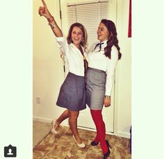 Spotted: Blair Waldorf and Serena Van Der Woodson take on East Carolina University xoxo Gossip Girl Halloween Costume